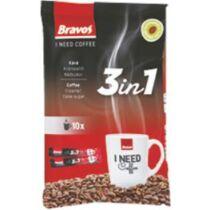 Bravos instant kávé 3in1 10x17g  1080db/rkl