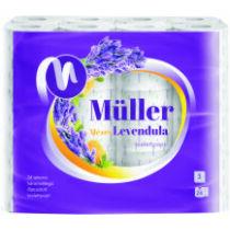 .Müller Toalettpapír 24tek. 3rtg. Méz-Levendula