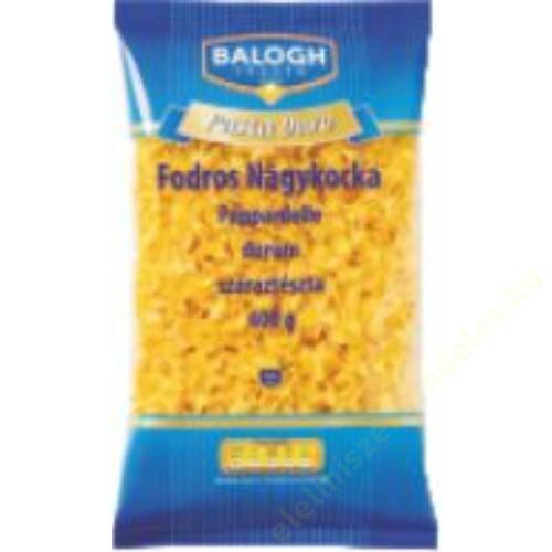 Balogh Pasta durum Fodros nagykocka tészta 400g