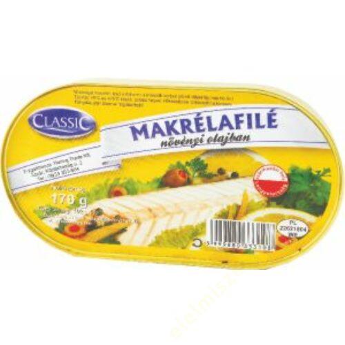 Classic Makrélafilé 170g Növényi olajban