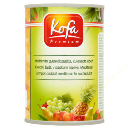 Kofa Mediterrán gyümölcssaláta 410g/230g