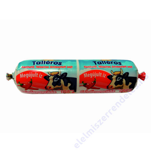 Talléros tömlős sajt 100g Csípőspaprikás