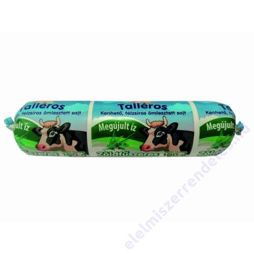 Talléros tömlős sajt 100g Zöldfűszeres