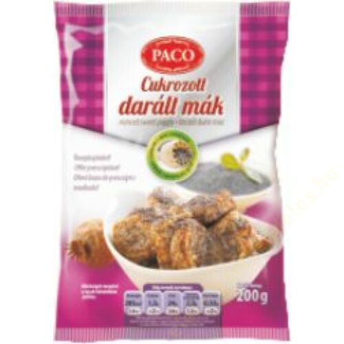 PACO Cukrozott Darál Mák 200g  20/# 1280db/rkl.