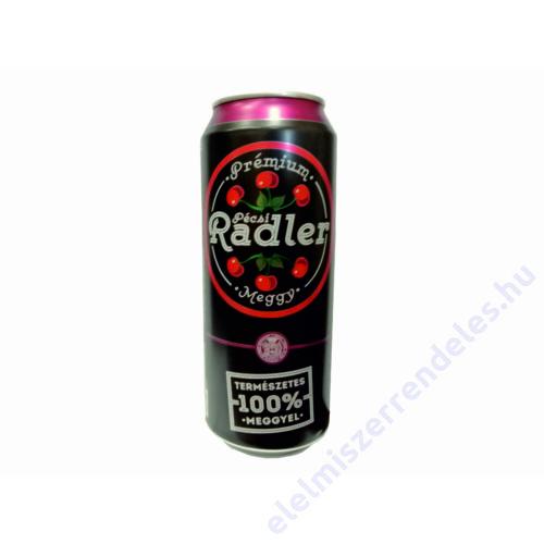 Pécsi Radler dobozos sör 0,5l Meggy 1,4%