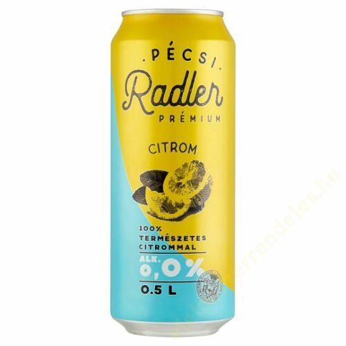 Pécsi Radler Kontroll dobozos sör 0,5l Lemon 0%