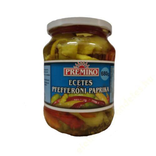 Premiko Pepperóni paprika ecetes 660g/300g (720ml)