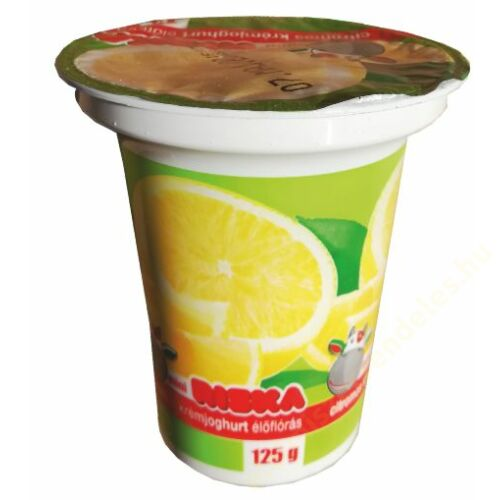 Riska krémjoghurt 125g citrom