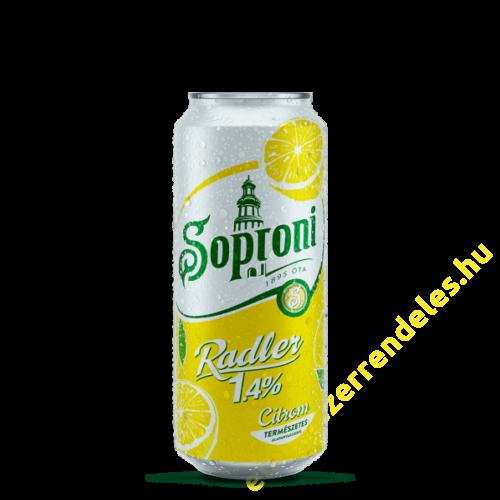 Soproni 0,5l Citrom (1,4%) dobozos sör