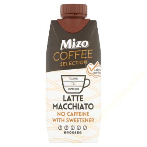 Mizo coffee selection laktózmentes Latte macchiato 330ml