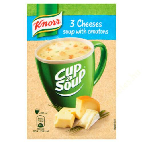 Knorr Instant Háromsajtos krémleves 17g