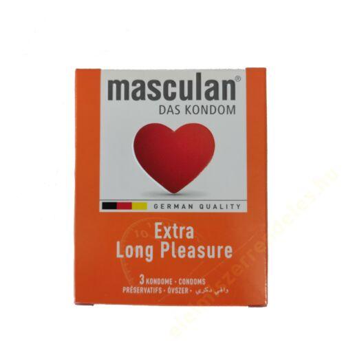 Masculan óvszer 3db Long Pleasure