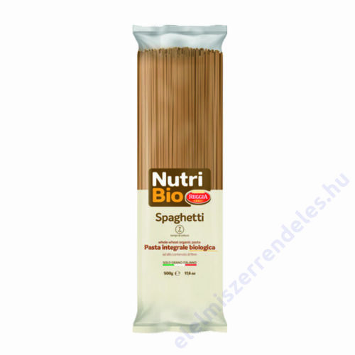 Reggia Nutri Bio tészta 500g Spaghetti teljeskiörlésü durum