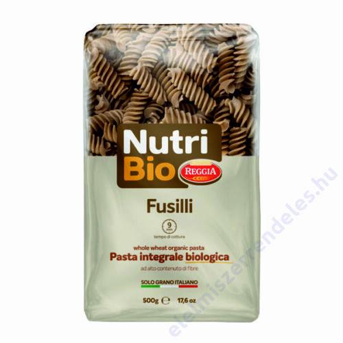 Reggia Nutri Bio tészta 500g fusilli teljes kiörlésü durum