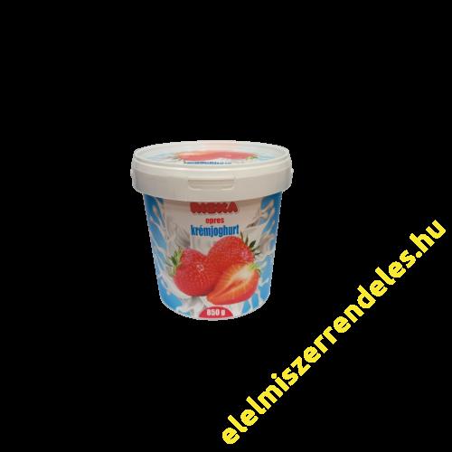 Riska krémjoghurt 850g eper