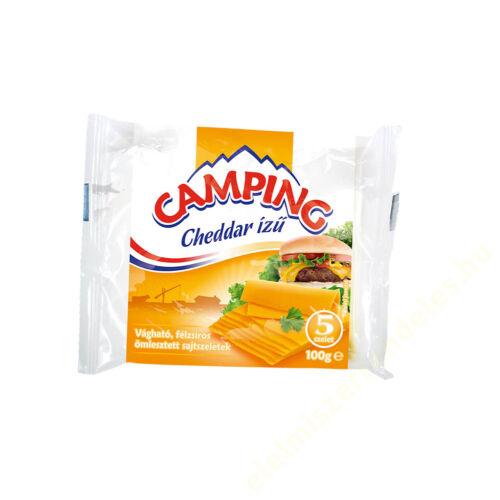Camping szeletelt sajt 100g cheddar