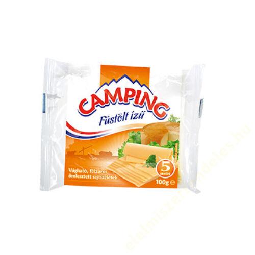 Camping szeletelt sajt 100g füstölt