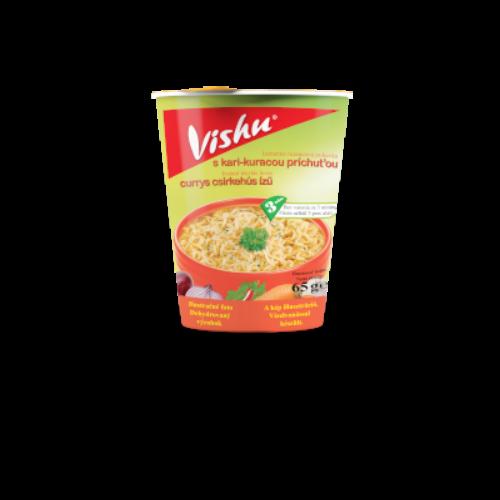 Vishu poharas instant leves 65g Currys csirke ízű